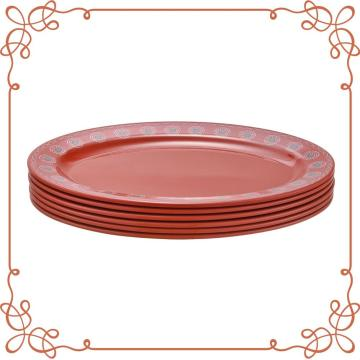 12 Inch Melamine Oval Plates Set of 6