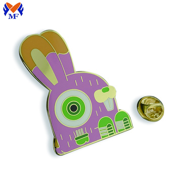 Metal Custom Rabbit Pin Badge