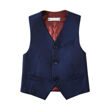 Boys Basic Navy Color Polyester Vests