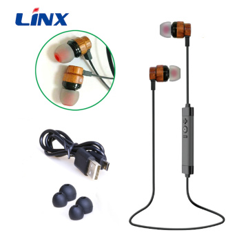 Factory wholesale real Wooden Wireless earphones