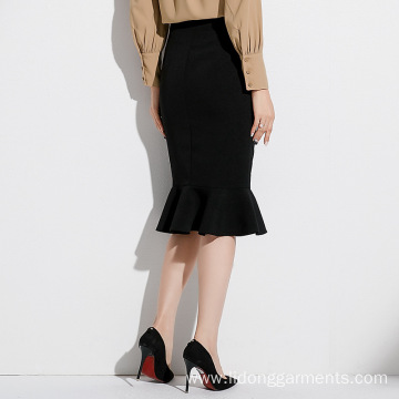 Fishtail High Waist Slim Half-length Office Lady Skirt