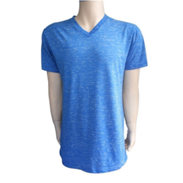 blue men's short sleeve t-shirt