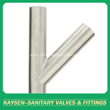 Polished Weld Lateral Tee Sanitary Fitting