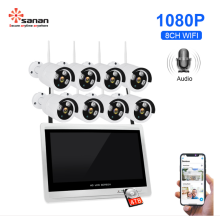 "8CH 1080P Wireless Security Camera 12.5 ""LCD Monitor"