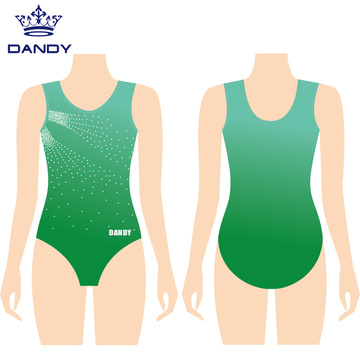 Spandex girls sleeveless gymnastics leotards