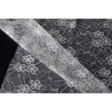 Nylon Polyester Flower Pattern Lace Fabric Design-A