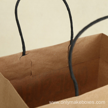 Wholesale Kraft paper Bags For Gifts Shopping Bag