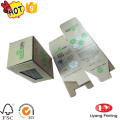 Corrugated cosmetic packaging box with clear window