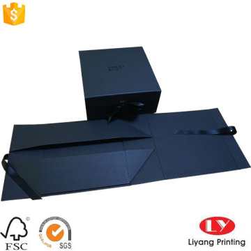 Folding Black Gift Box with UV Logo