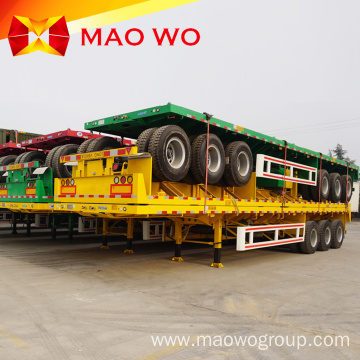 Container Carrier 40 Feet Semi Truck Flatbed Trailer