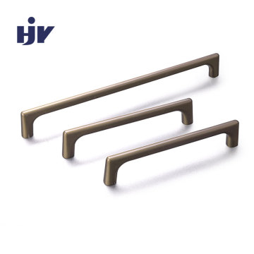 Zinc Furniture Pulls Bow Gold Cabinet Handle 128Mm