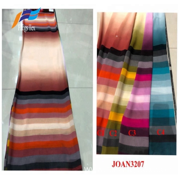 Colorful Fancy Abaya Garment Nida Polyester Printed Fabrics