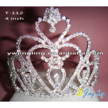 Holiday Rhinestone Heart Valentine's Day Pageant Crowns