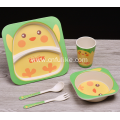 Reusable Bamboo Fiber Kids Dish Set