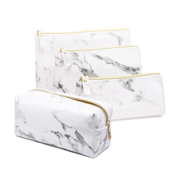 Ladies Travel Square Marble Makeup Cosmetic Storage Bags