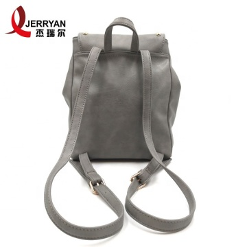 Cheap Fashion Womens Tan Vegan Leather Backpacks