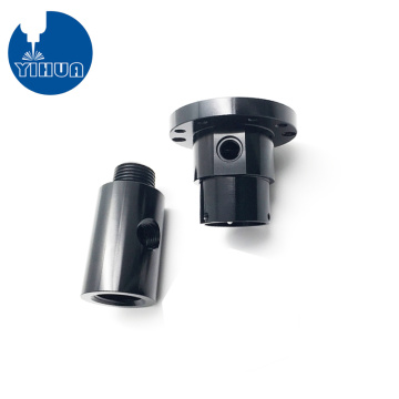 CNC Turned Black Anodized Aluminum Fitting