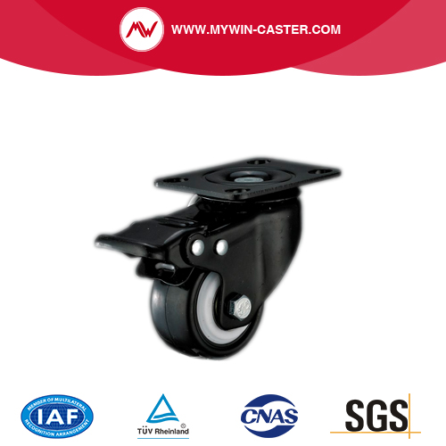 Braked Plate Swivel TPR Industrial Caster