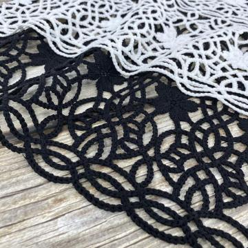 Coil Matt Poly Chemical Lace Embroidery Fabric