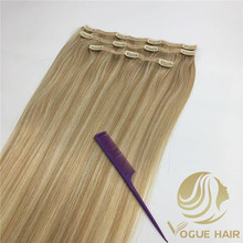 Custom lace clip in hair extensions