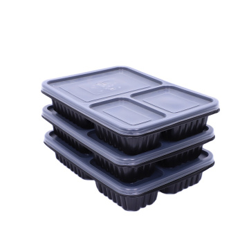 Thermoforming take away disposable plastic food box