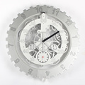 Metal Big Gear Wall Clocks White