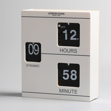 Libro blanco Flip Clock para decoración