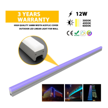 LED linear lights for outdoor decorative lighting