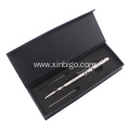 Hollow stainless steel tactical pen with LED light