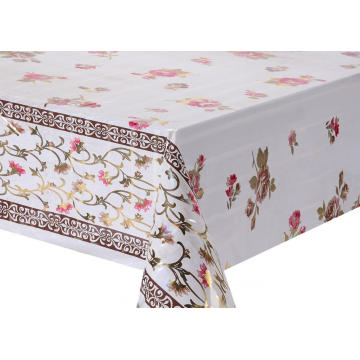 Transfer Printing Tablecloth with Silver/Gold snowflake