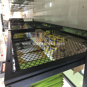 Painted Coated Expanded Metal Mesh Goods Shelf