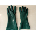 PVC Coated Gloves with Green Colour