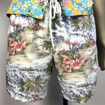 top quality men Printed strappy beach shorts