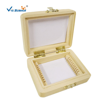 10 PCS Wood Microscope Slides Box