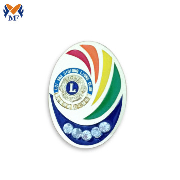 Custom zinc alloy safety pin for badge
