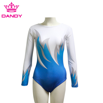 Women Long Sleeveless Gymnastic Leotard