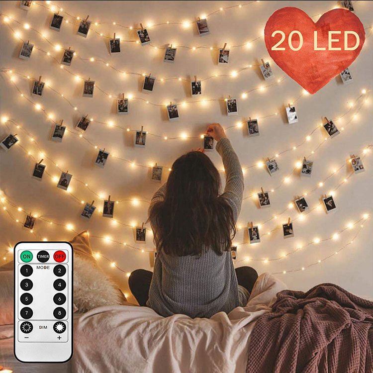 2meters 20leds photo clip fairy lights