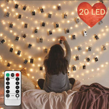 Kad Krismas Photo Led Clip String Lights