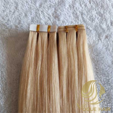 Double sewn tape in hair extensions