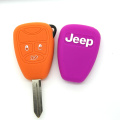 Key fob cover with silicone protective cover