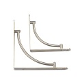 High quality Stainless steel brushed modern shelf brackets