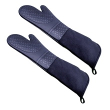1 Pair Professional Silicone Oven Mitts Baking Gloves Elbow Length Heat Resistant Gloves