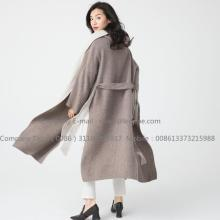 Women Long Pug Cashmere Coat