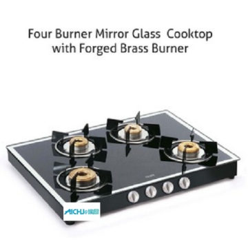 4 Burner Gas Stove Black Mirror Finish