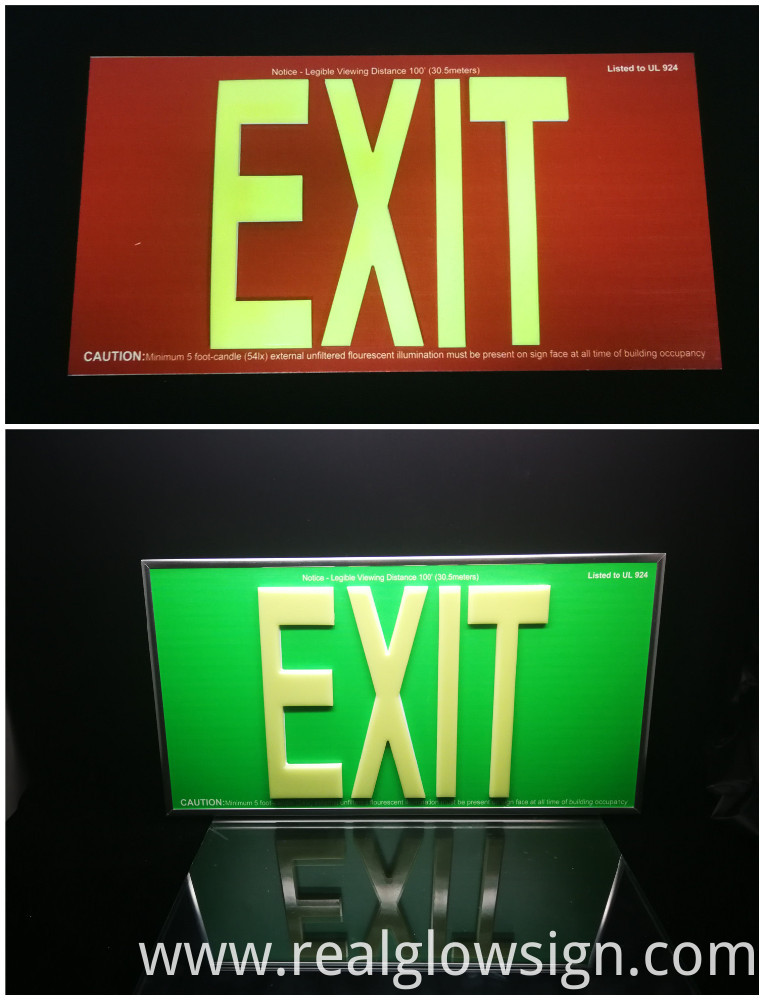 EXIT sign 100ft