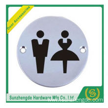 BTB SSP-003SS Print Adhesive Safety Toilet Door Signs Plate