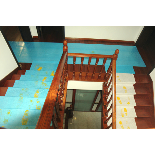Adhesive Flooring Stair Surface Protector During Renovation