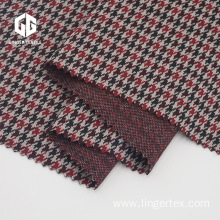 Polyester Houndstooth Jacquard Fabric With Elastane
