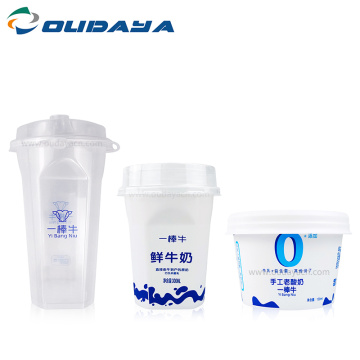 Plastic Yogurt ice cream cup with Lid 6oz 12oz 15oz
