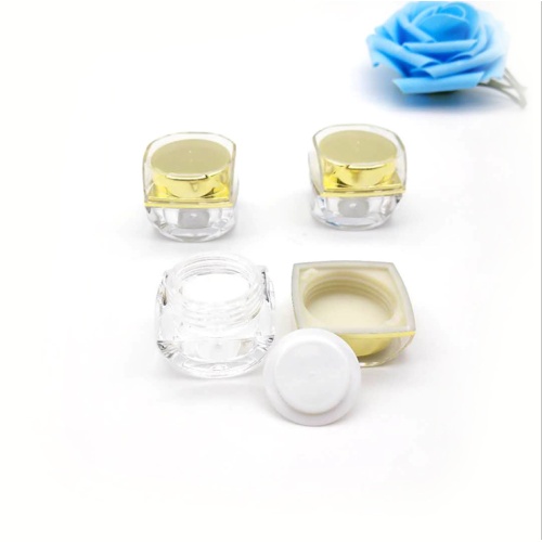 15ML GOLDEN acrylic cosmetic jar